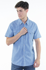 Jual Cepat Levi S Barstow Western Shirt Light Indigo Chambray