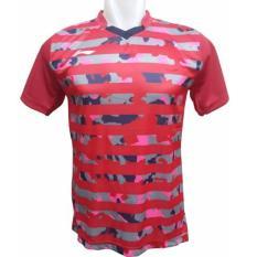 Diskon Lining Kaos Badminton Cl Merah