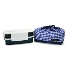 Spesifikasi Lock Lock 2 Layers Lunch Box With Bag L Navy Online
