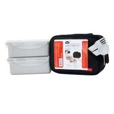 Toko Lock Lock Lunch Box 2P Set With Black Bag Spoon Fork Set Murah Di Indonesia