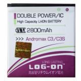 Spesifikasi Log On Baterai Smartfren Andromax C3 C3S Double Power 2800 Mah Dan Harganya