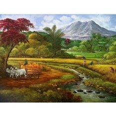 Lukisanku Pemandangan Sawah (DK041)