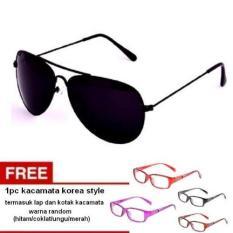 Lyn S Glasses Aviiator Rbbl Kacamata Unisex Hitam Free Kacamata Aviator Termasuk Kotak Kacamata Dan Lap Kacamata Asli