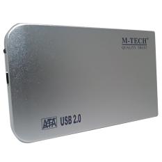 M-Tech Casing Hardisk Eksternal 2,5 Sata Versi 2 - Silver