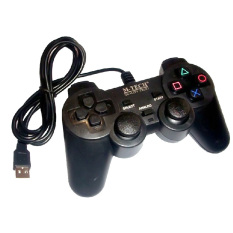 M-Tech Gamepad Single Getar Black - Stick PC / Laptop