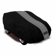 Mantroll Cover Mobil Toyota Yaris Hitam strip Abu / Jas Pelindung Mobil / Mantel Pelindung Mobil / Sarung Mobil Berkualitas / Cover Mobil Mantroll Berkualitas