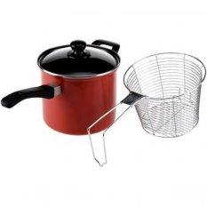 Maspion Maslon Deep Fryer Panci Penggorengan Serbaguna Anti Lengket Non Stick 18cm - Merah