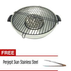 Maspion Fancy Grill 33 cm + Gratis Jepitan Stainless Steel