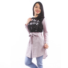 Spesifikasi Maxima All We Have Stripe Baby Terry Tunic Black Yang Bagus Dan Murah