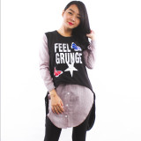 Diskon Produk Maxima Feel Grunge Stripe Baby Terry Tunic Black