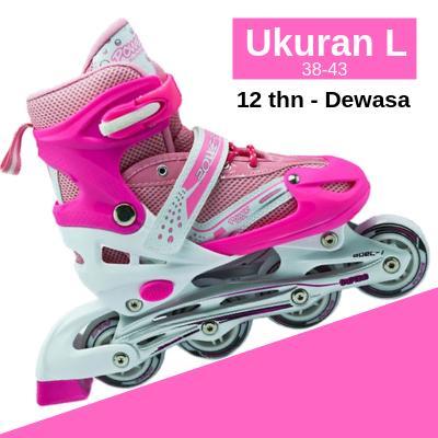 PINK GLOBAL sport sepatu roda bajaj lampu anak supe murah inline skate power