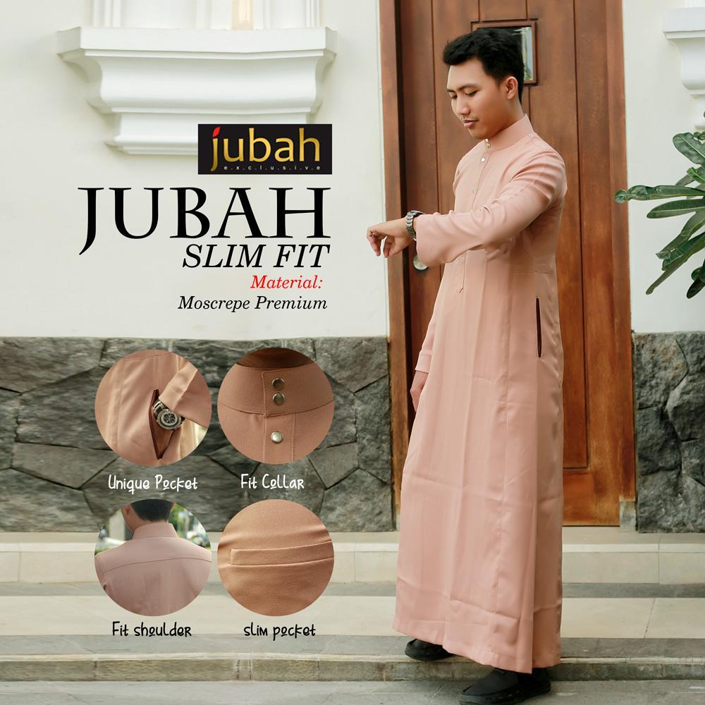 Jubah Muslim Pria SLIMFIT Baju Muslim - SLIMFIT d828473dcc