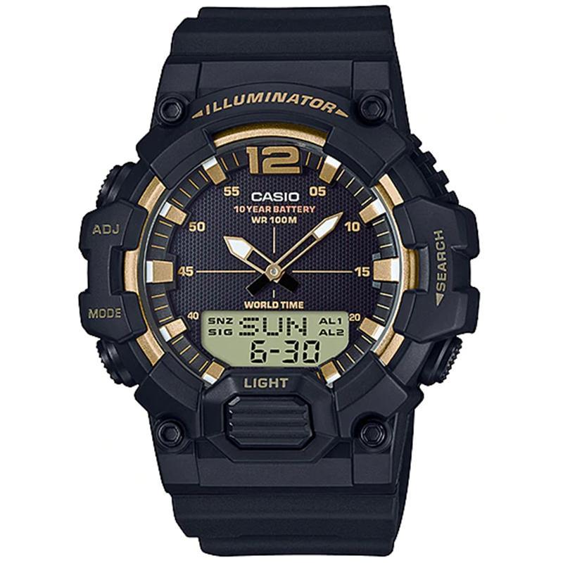 CASIO ORIGINAL Iluminator Digital  HDC-700-9AVDF - New Arrival - Jam Tangan Pria - Black Gold - Resin Band - SPECIAL PROMO HDC-700 / HDC-700-9A / HDC700 / HDC-700-9AV / HDC 700 9A