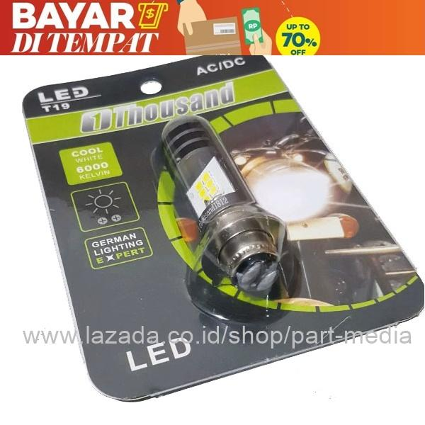 Thousand Lampu Depan Motor Honda Supra X 125 Helm in  T19 LED
