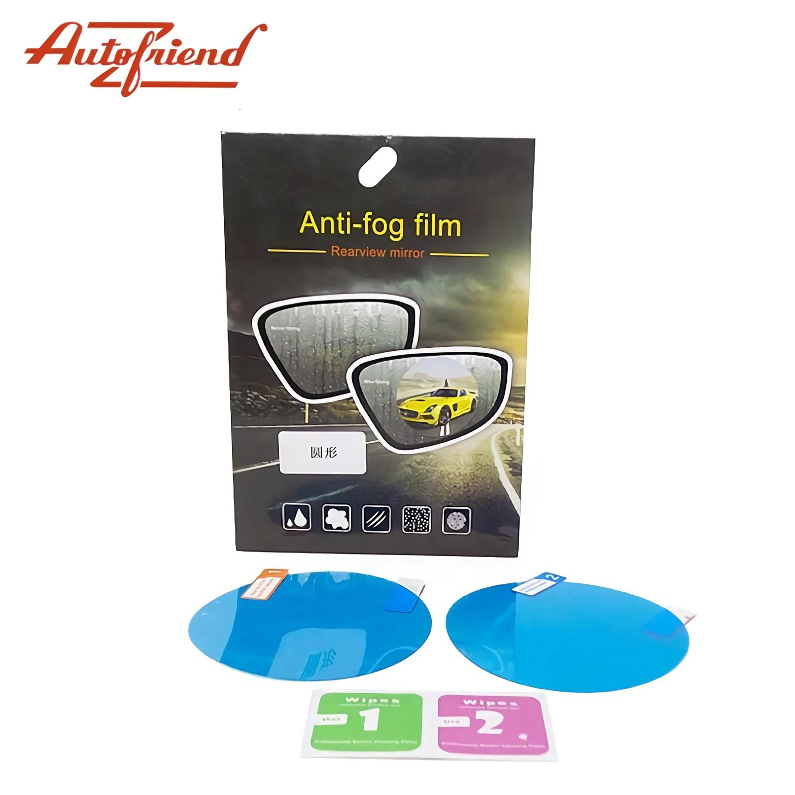AUTOFRIEND Sticker Kaca Spion Bulat Anti Air & Embun 2 Pcs Anti Fog Film AI