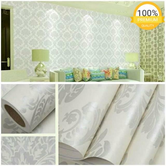 Wallpaper Sticker Dinding Tembok Rumah Batik Silver Abu Mewah Wps471c Wallpaper Stiker Kamar Tidur Ruang Tamu Klasik Elegan Jual Wallpaper Murah Praktis Ada Lem Langsung Pasang Sendiri Bisa Bayar Di Tempat