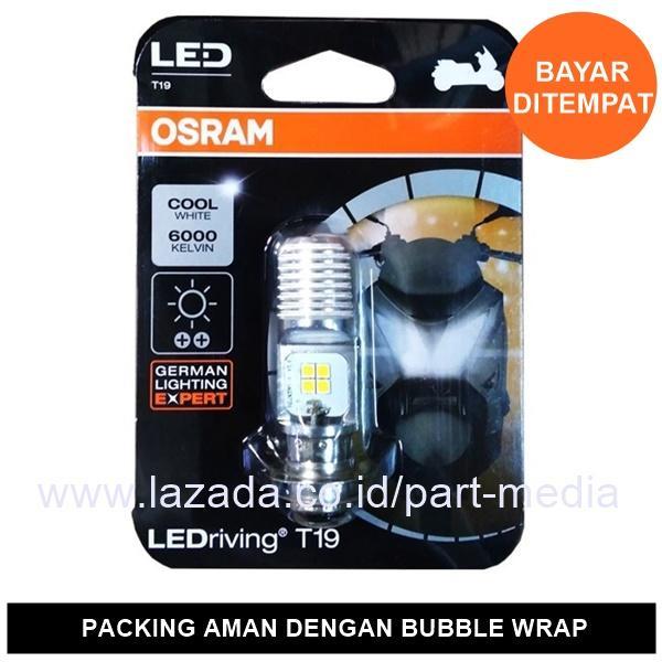 Osram Lampu Motor LED Honda Beat Karbu- T19 H6 M5 K1 Putih - 7735CW