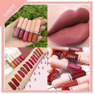Ready stock SANIYE Matte Lipstik Tahan Air Kapsul Lip Gloss Tahan Lama L1135 thumbnail