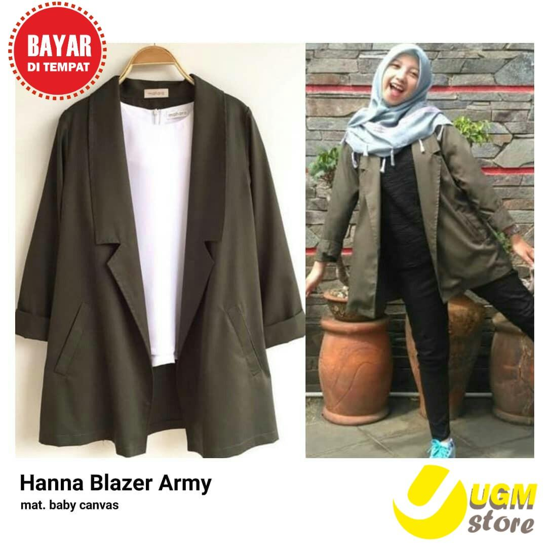 UGM  Fashion Blazer Wanita- Hanna Blazer -Favorit Wanita Indonesia e15fc480be