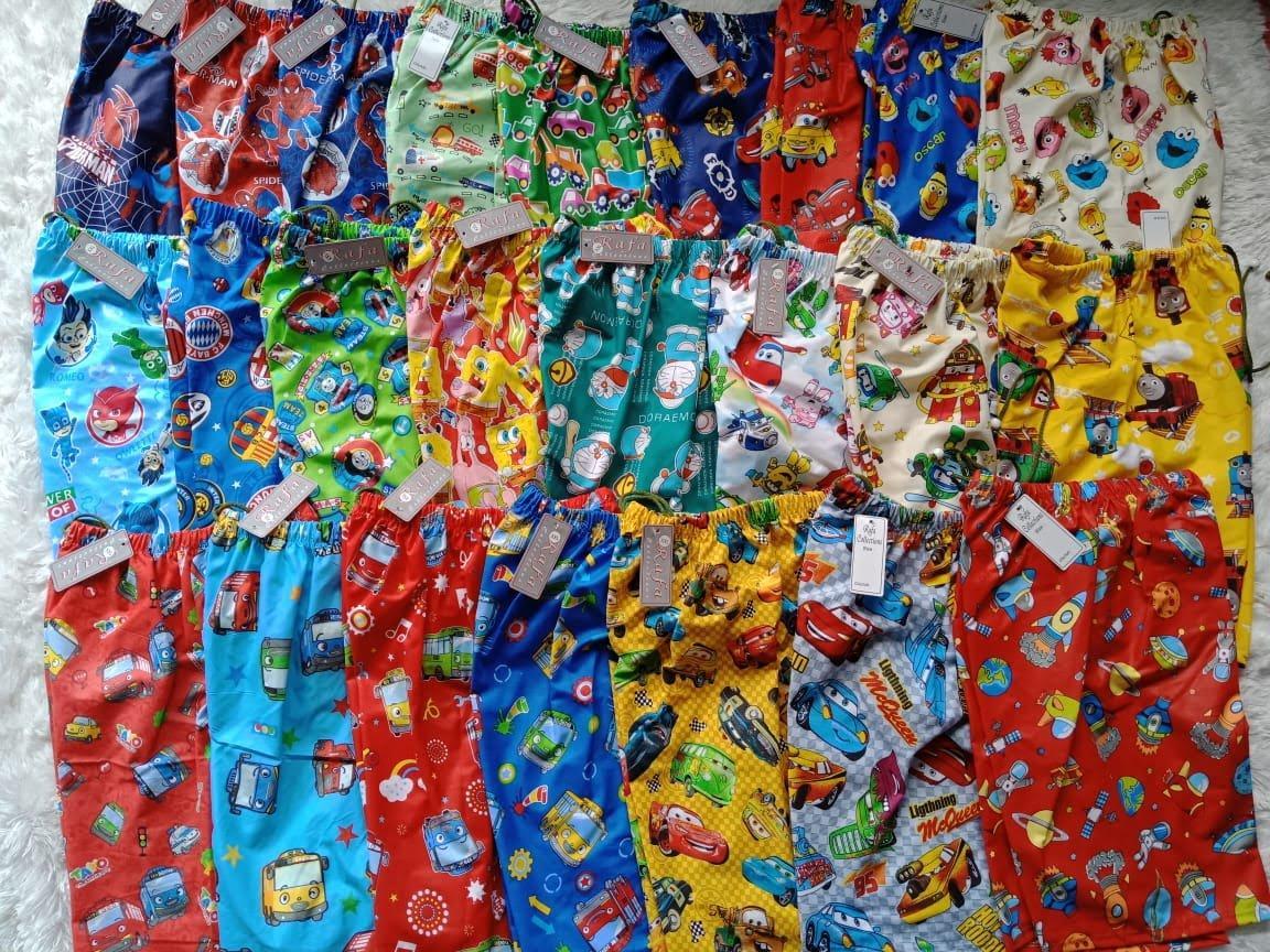 paket 3 pcs celana pendek catra motif karakter anak laki laki