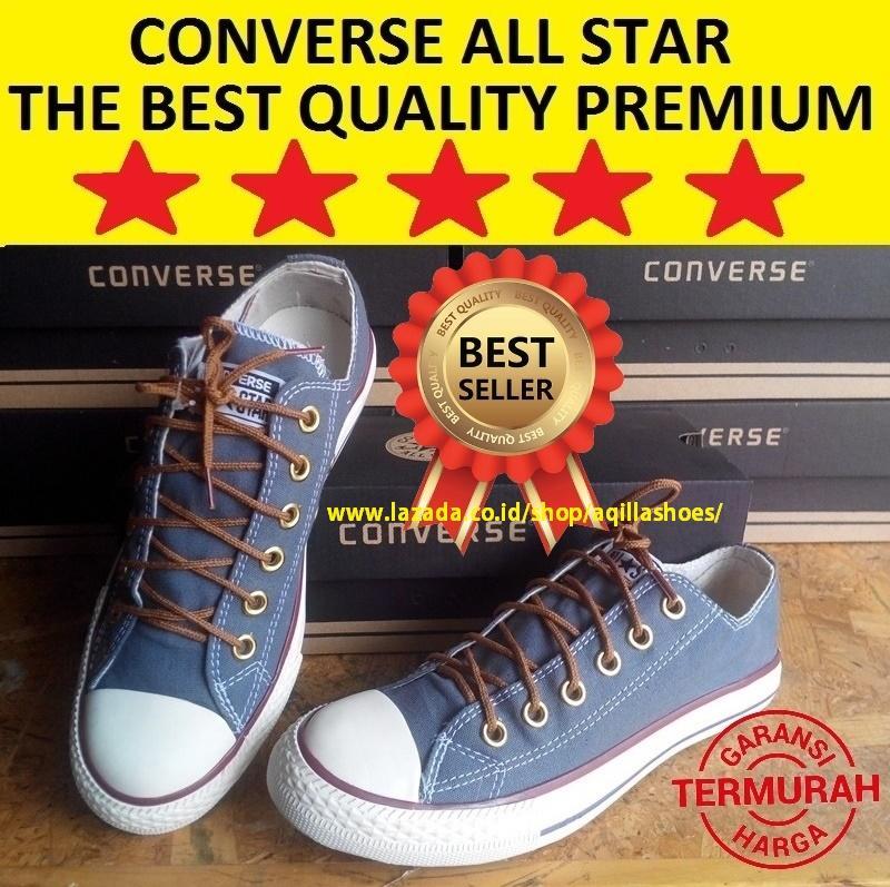 Rp 135.000. AQILLA ® - Sepatu Sneakers Pria Wanita Convers01 All Star  Premium Grey Chuck Taylor All ... 3829d512dd