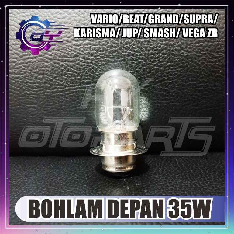 HY otoparts BOHLAM LAMPU DEPAN 12V 35WATT GRAND / VARIO / BEAT / SUPRA X / KARISMA / REVO / MIO  /JUPITER Z