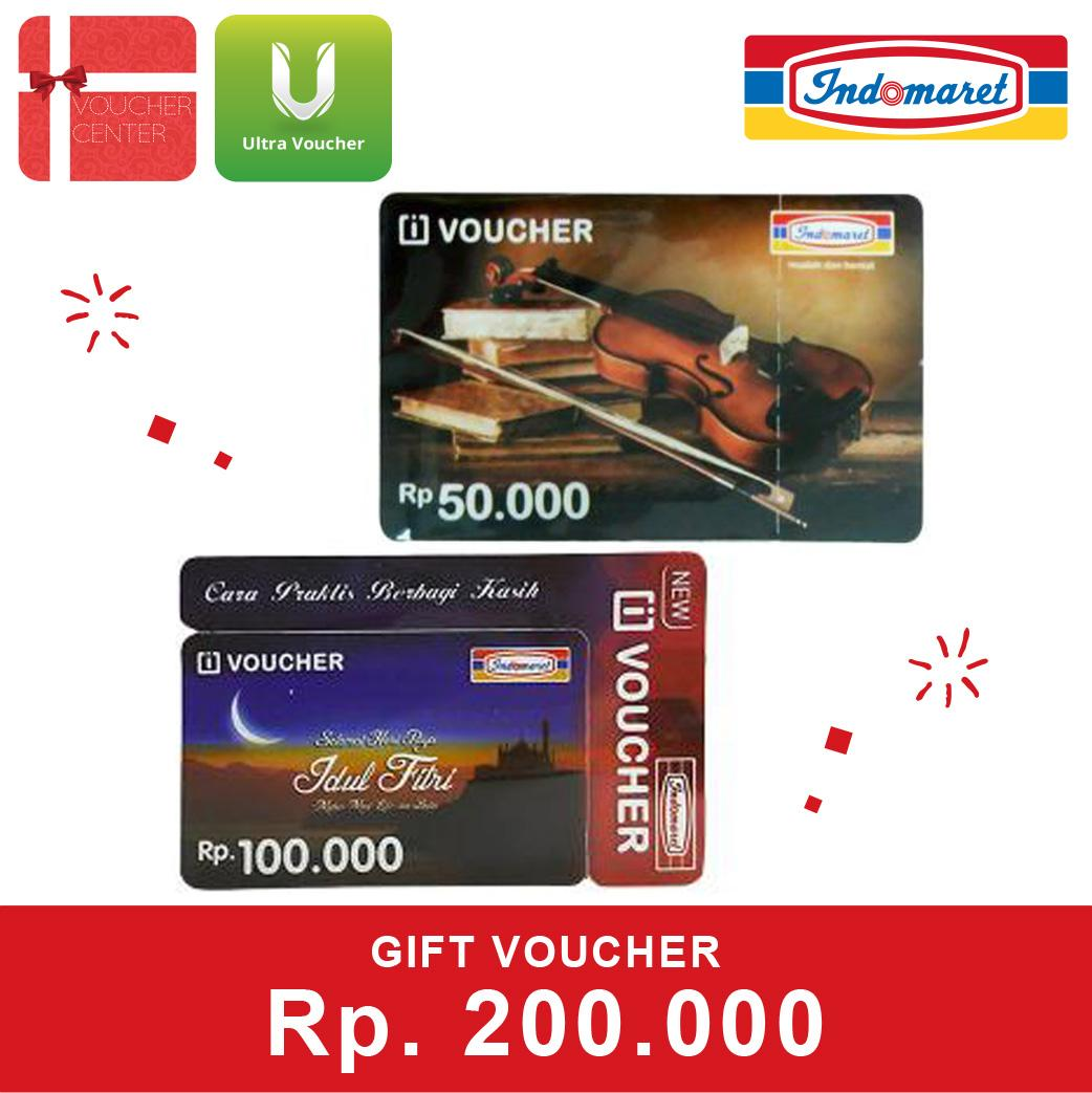 Indomaret Voucher Rp.200,000 By Voucher Center.