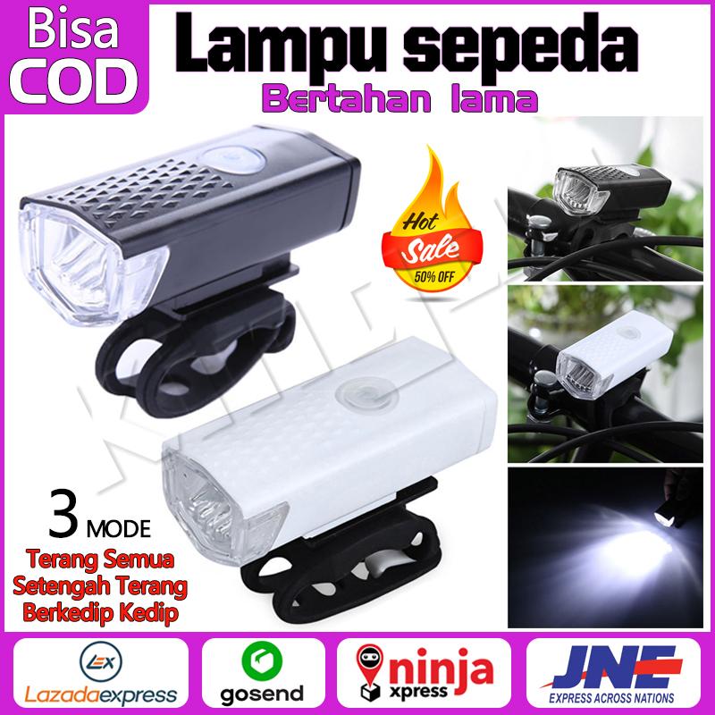 Lampu Depan Sepeda CREE LED 300LM Dapat Diisi Ulang Dengan USB Rechargeable