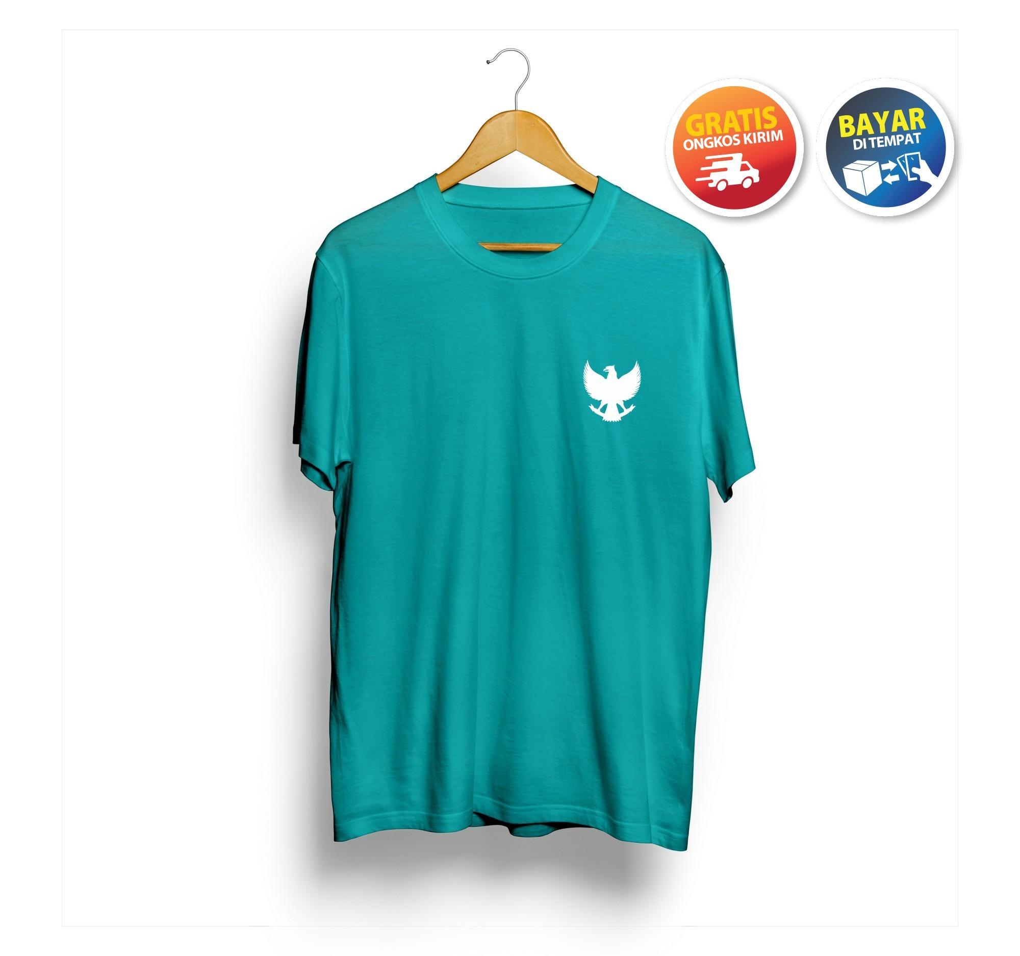 """Bibong T-Shirt Kaos Distro Polos Pria Lengan Pendek GARUDA atasan Murah wanita branded Original Premium Bandung"""
