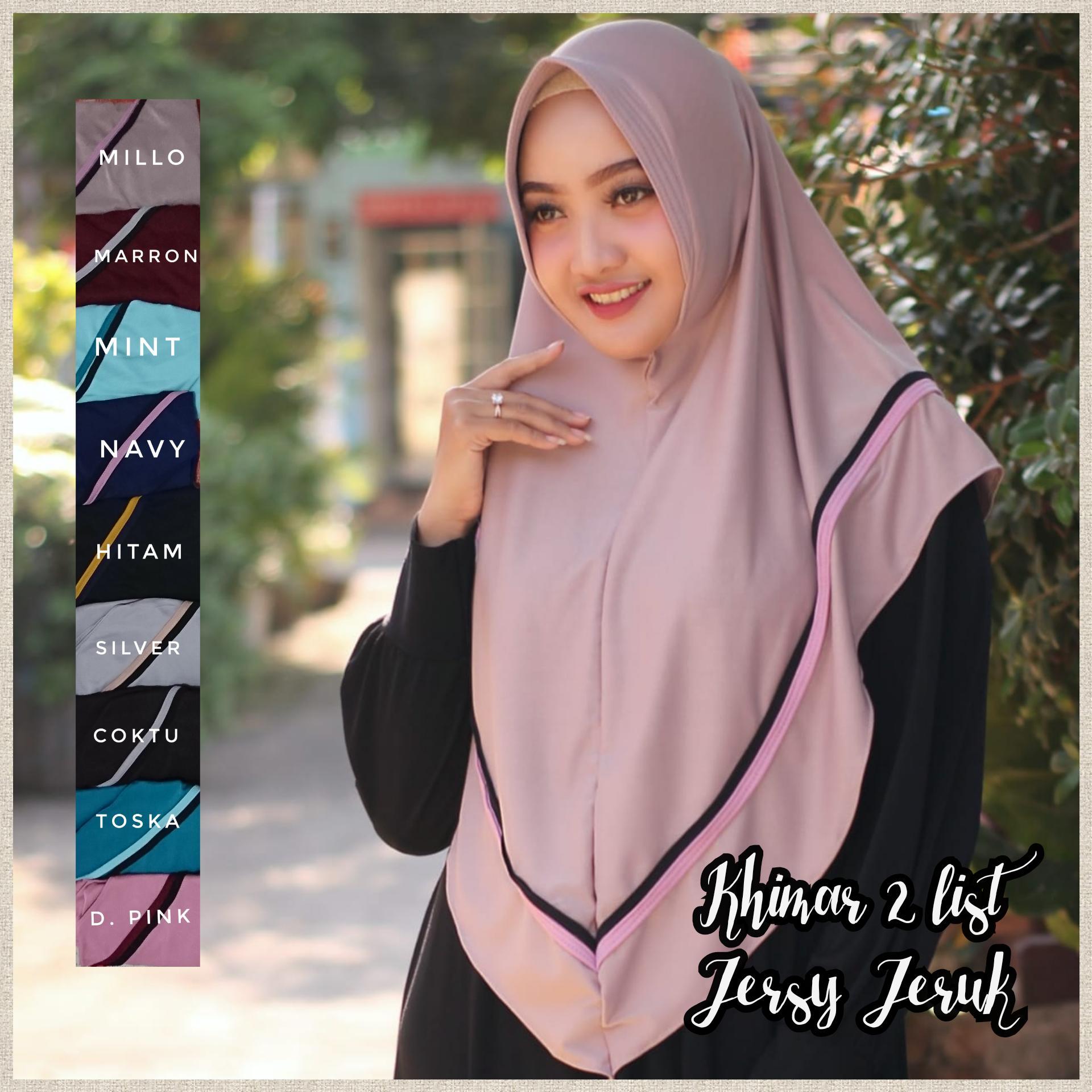 Khimar Instan Harian 2 list Murah / Jilbab Hijab Muslim