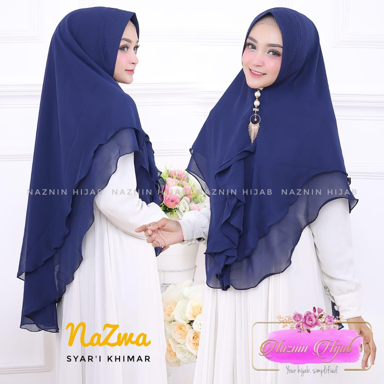 Baju Fashion Wanita Baju Muslim Hijab Jilbab Khimar Syari Nazma Rempel Terbaru