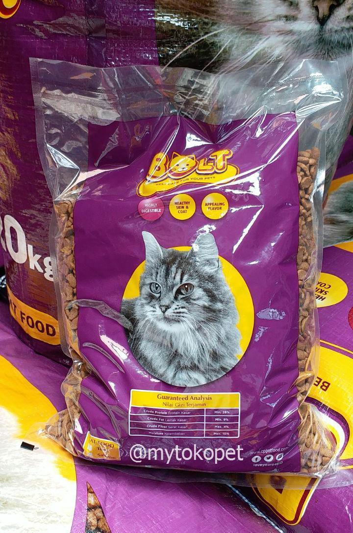 Bolt Cat Food 1kg - Makanan Kucing Bolt Repack By Mytokopet.
