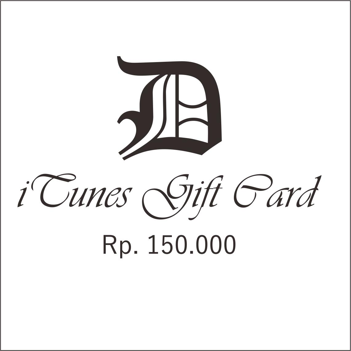 Itunes Gift Card Indonesia 150 By Daffa Gift.