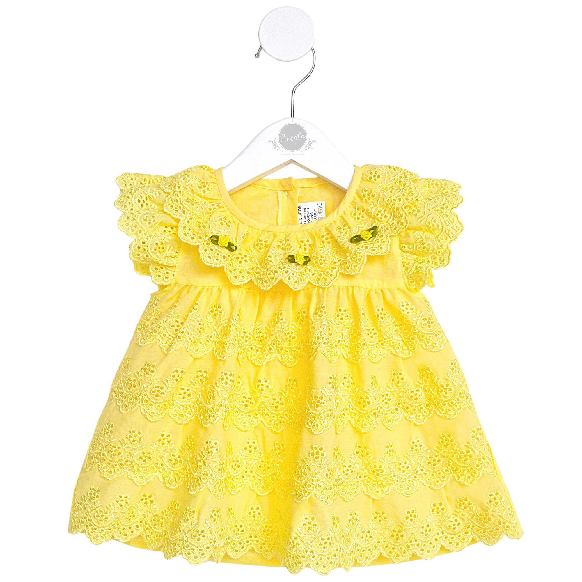 Dress Newborn New Born Baby Baju Bayi Perempuan Baru Lahir Warna Kuning NC05Y