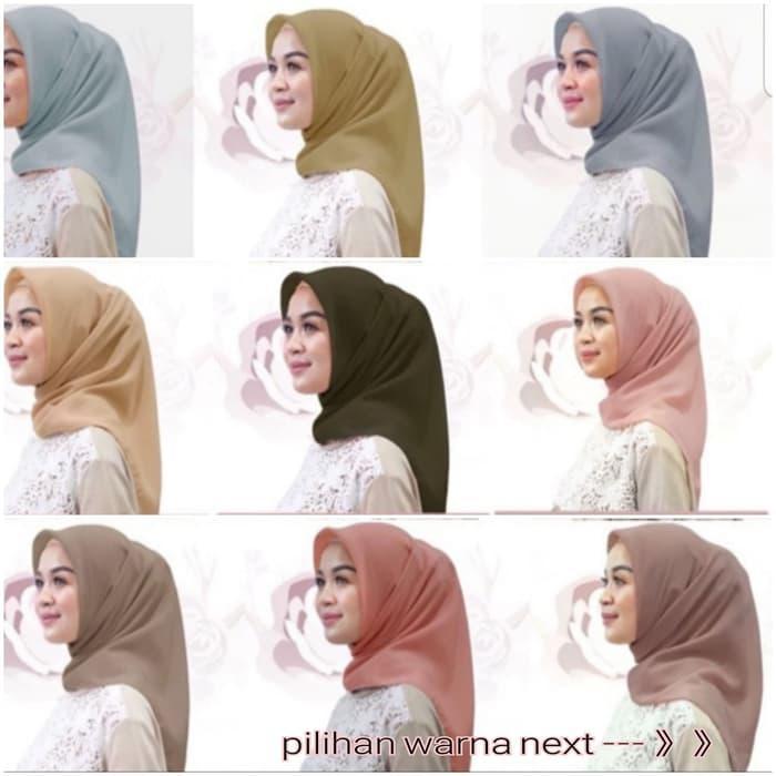 produk - Hijab / Jilbab Segiempat Bella Square POLYCOTTON 26 WARNA TERMURAH