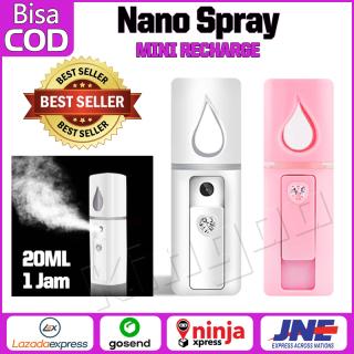 Spray Perawatan Wajah Mini Portable USB Mist Sprayer Pelembab Wajah Handy Mist Spray Air Alat thumbnail