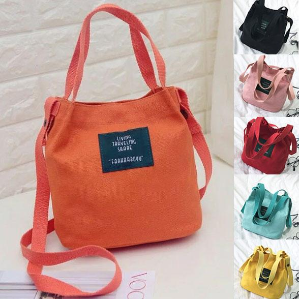 Banyak Warna Santorini Tas Selempang Wanita Mini Kanvas Import Women Canvas  Mini Sling Bag Batam Murah 8f1cf2ba2d