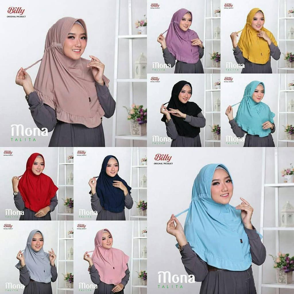 (Paket 10pcs) Hijab Serut Rempel Kriwil Jokowi Jilbab Khimar Harga GROSIR