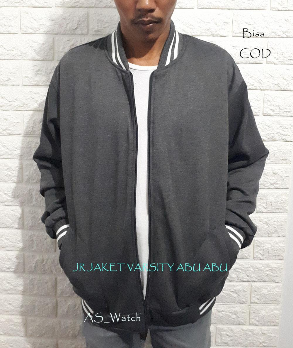 Jr Jaket - Varsity Dan Polos - Baseball Jaket Pria Sweater Polos Ukuran Jumbo By As_watch.
