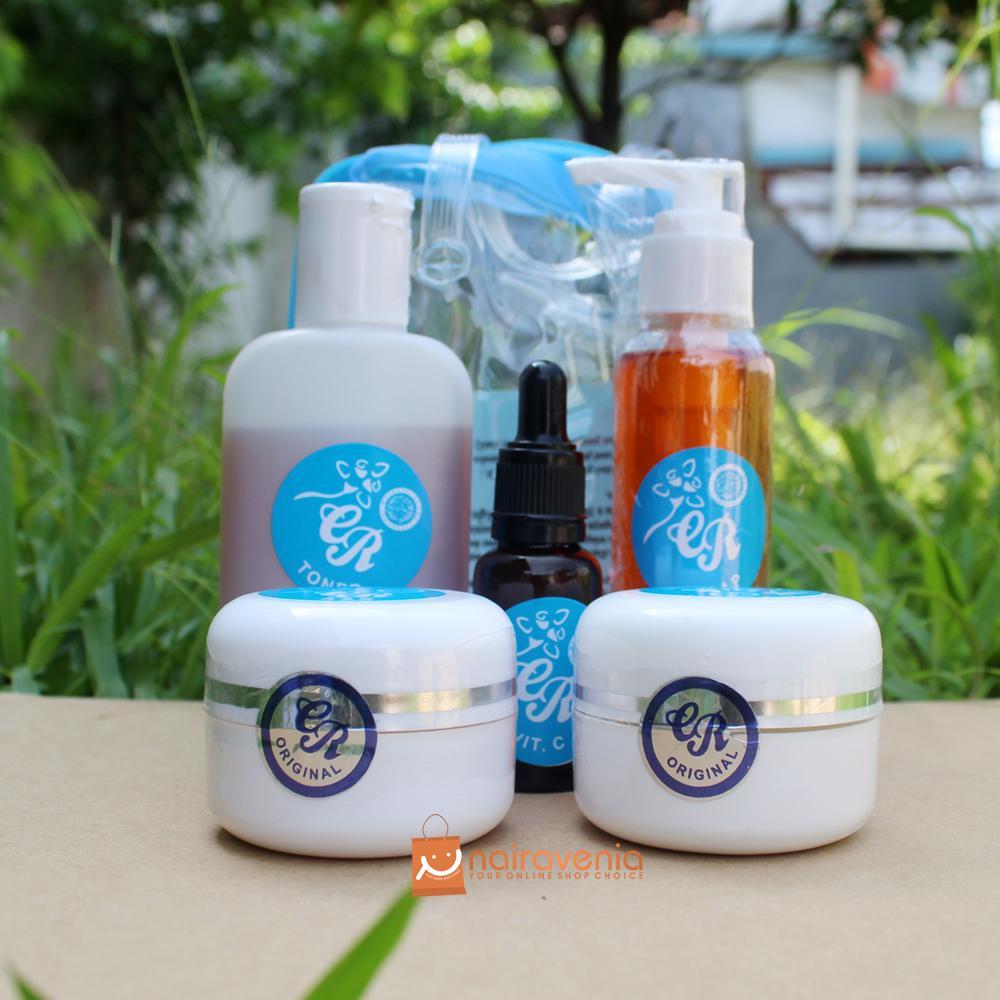 Cream Cr Biru Asli - Krim Cr Pemutih Wajah 5 In 1 By Naira Cosmetic.