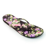 Jual Megumi Sandal Wanita Floral Black Original