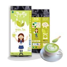 Megumie Green Tea Latte Matcha Powder 500gr - Bubuk Minuman Teh Hijau Serbuk