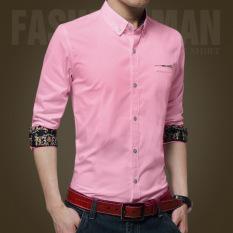 Toko Pria Kasual Bisnis Formal Dress Shirt Lengan Panjang Pria Solid Slim Fit Shirt Intl Termurah Di Tiongkok
