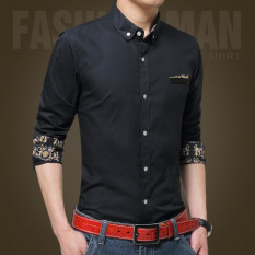 Berapa Harga Pria Kasual Bisnis Formal Dress Shirt Lengan Panjang Pria Solid Slim Fit Shirt Intl Oem Di Tiongkok