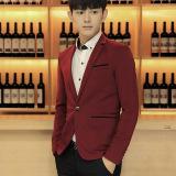 Harga Pria Ramping Pas Plus Ukuran Fashion Blazer Kasual Pria Formal Bisnis Blazers Mantel Merah Tiongkok