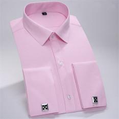 Spek Pria Business Cotton Formal Lengan Panjang Twill Shirt Pink Mhw03 Xs Xxxl Intl Tiongkok