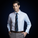 Promo Men S Business Long Lengan French Cuff Dress Shirt Biru Muda Mcxw1201 Xs Xxxl Intl Oem Terbaru