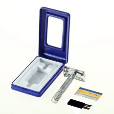 Pria Classic Hair Blade Razor Safety Double Edge Manual Alat Cukur