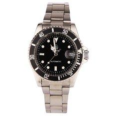 Toko Mens Klasik Steampunk Diver Style Sport Mekanik Pria Stainless Steel Watch 001490 Hitam Intl Yang Bisa Kredit