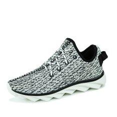 Beli Essan Pria Olahraga Sepatu Bernapas Sneakers Kanvas Sepatu Kasual Grey Online Murah